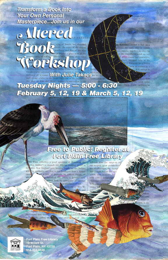 Altered Books Workshop with Julie Takacs @ Fort Plain Free Library
