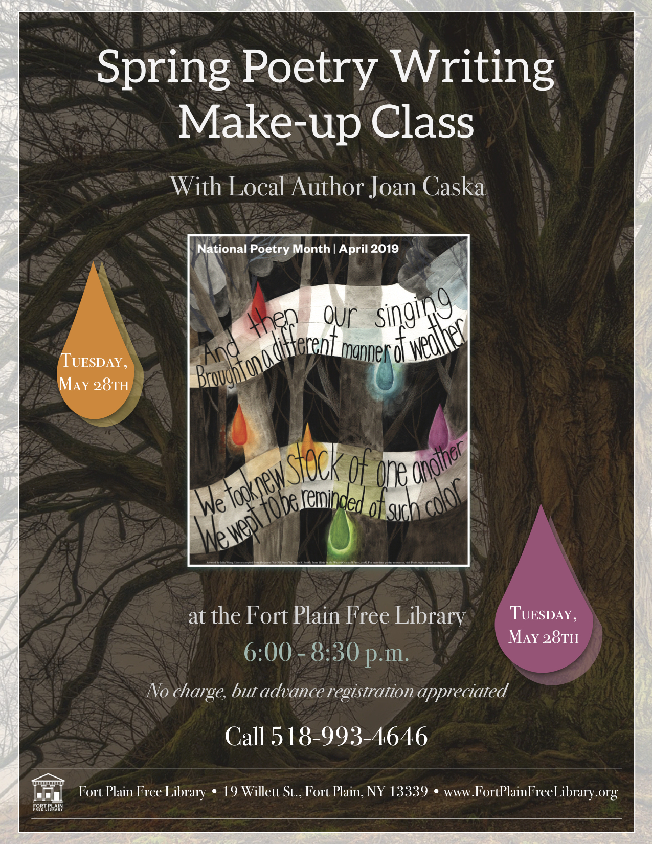 Spring Poetry Workshop make-up class @ Fort Plain Free Library
