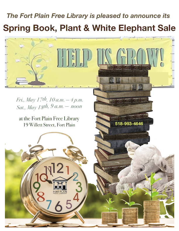 Spring Book, Plant & White Elephant Sale @ Fort Plain Free Library