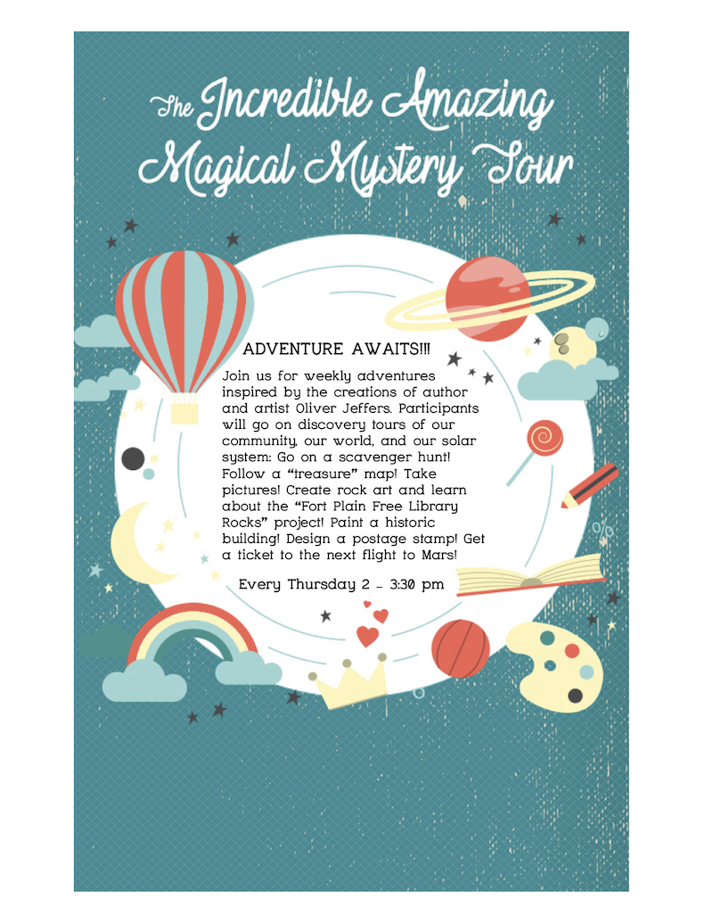 Incredible Amazing Magical Mystery Tour @ Fort Plain Free Library