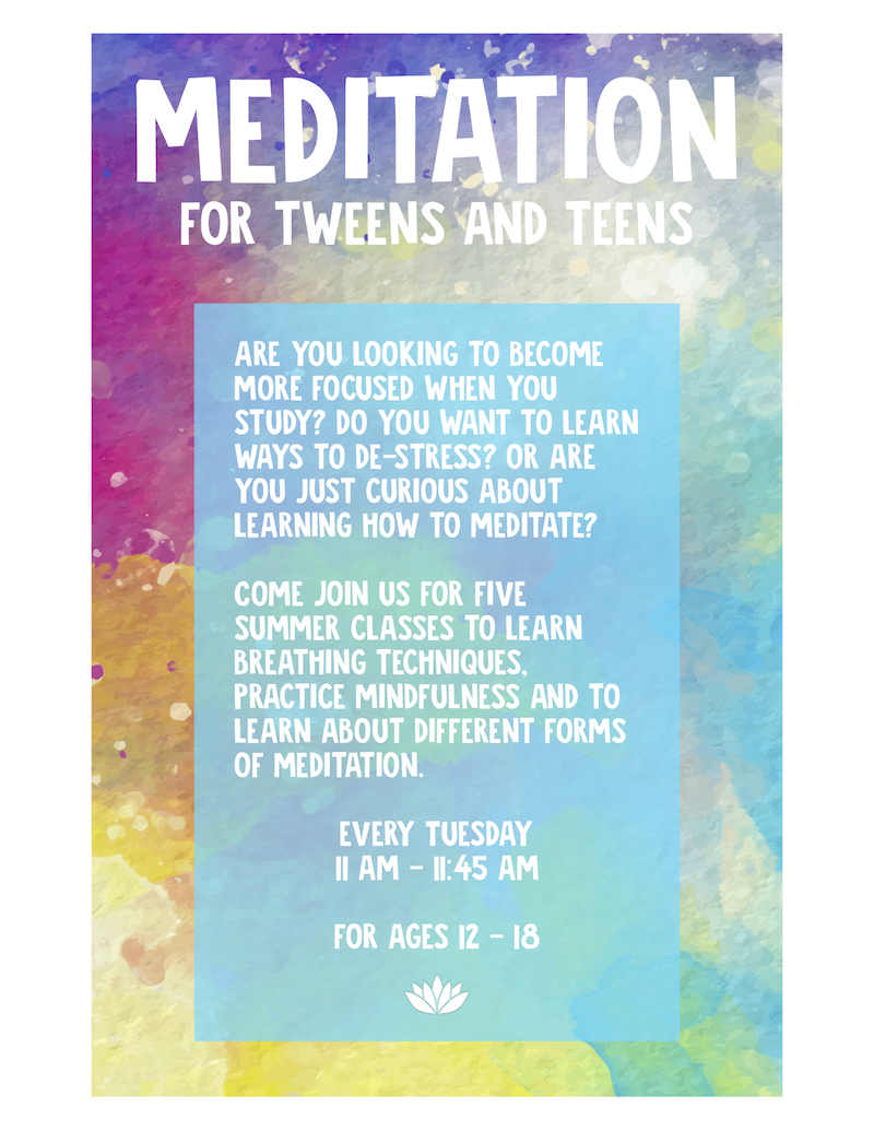 Meditation for Tweens and Teens @ Fort Plain Free Library