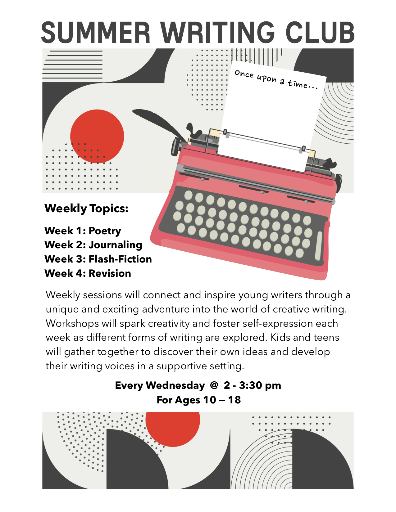 Writing Club for Tweens and Teens @ Fort Plain Free Library